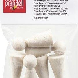 Objekten zum Dekorieren / objects for decorating cono figura, 37 mm, 6 pezzi