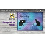 Instructie video voor Sliding card ponsen template items: Kh494392 BCD004