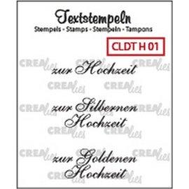Crealies und CraftEmotions Crealies, Transparent Stempel: deutsche Text