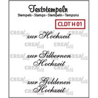 Craftemotions Crealies, Transparante stempel: Duitse tekst