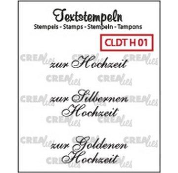 Crealies und CraftEmotions Crealies, timbro trasparente: testo tedesco