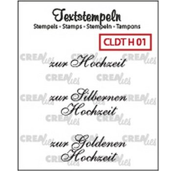 Crealies und CraftEmotions Crealies, Transparent stamp: German text