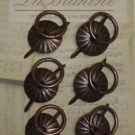 LaBlanche Lablanche, metal runde håndtag - Antik Kobber