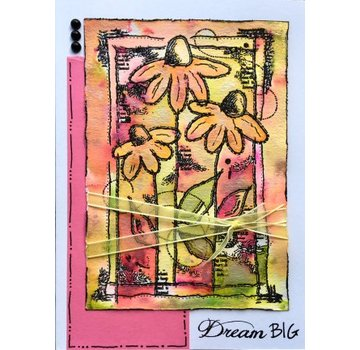 CREATIVE EXPRESSIONS und COUTURE CREATIONS Creative Expressions,  Transparent stempel Sketched Daisies