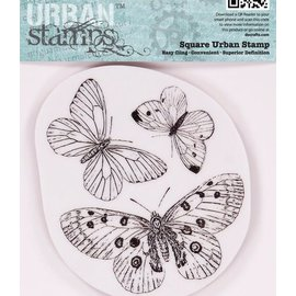 Docrafts / Papermania / Urban Papermania, Gummi Stempel, Schmetterlinge