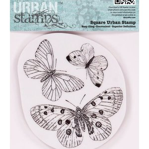 Docrafts / Papermania / Urban Papermania, gummistempler, sommerfugle