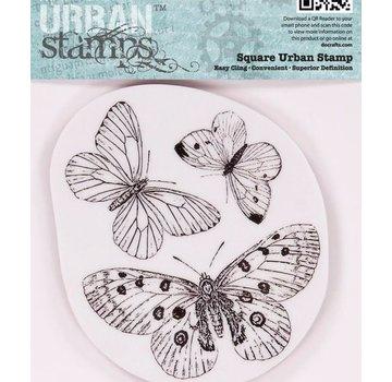 Docrafts / Papermania / Urban Papermania, tampons en caoutchouc, des papillons