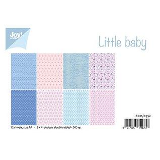 Joy!Crafts / Jeanine´s Art, Hobby Solutions Dies /  Joy Crafts, Little Baby, A4-papierset, 12 vel-3x4 ontwerpen dubbelzijdig-200 gr