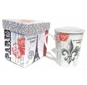 "Tee-Tasse, ""Fleur de Lys-Paris"" mit Deckel"