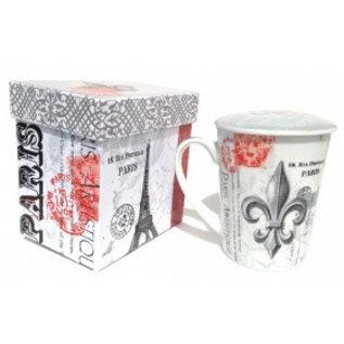 """Tazza da tè """"Fleur de Lys-Paris"""" con coperchio"""