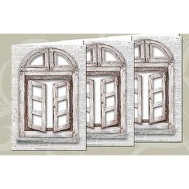 BASTELSETS / CRAFT KITS Sett med kort: 3 vindukort + konvolutter