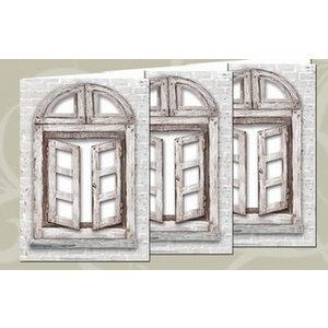 BASTELSETS / CRAFT KITS Jeu de cartes: 3 cartes de fenêtre + enveloppes