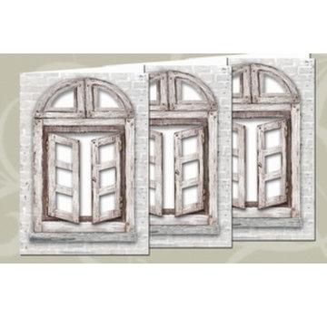 BASTELSETS / CRAFT KITS Kartenset: 3 Fensterkarten + Umschlägen