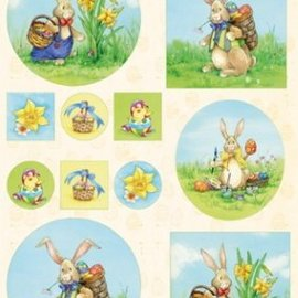 Marianne Design Feuille d'image A4, lapin de Pâques