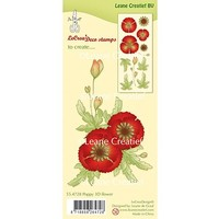 Leane Creatief, timbre transparent, coquelicot 3D