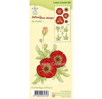 Leane Creatief - Lea'bilities und By Lene Leane Creatief, Transparent Stamp, 3D Poppy