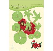 Leane Creatief - Lea'bilities und By Lene Skæring og prægning skabeloner: Multi Flower, 3D Poppy Flower