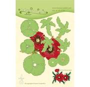 Leane Creatief - Lea'bilities und By Lene Snij en embossing Sjablonen: Multi  flower, 3D Klaproos