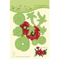 cutting and embossing templates: Multi  flower, 3D Poppy Flower