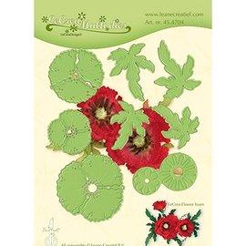 Leane Creatief - Lea'bilities und By Lene Stanzschablonen: Multi die flower, 3D Mohnblume