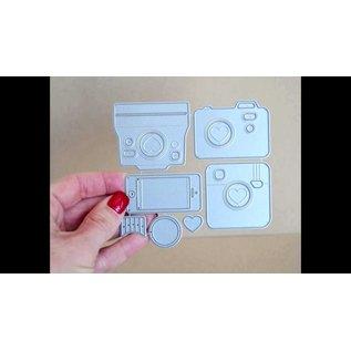 Carta Bella / Echo Park / Classica Modello Die-Namics, taglio e goffratura, Cute Camera