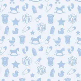 Spellbinders und Rayher Motief kartonnen babymotieven, 213x310mm, 190 g / m2, babyblauw
