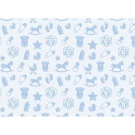 Spellbinders und Rayher Motifs bébé motif carton, 213x310mm, 190 g / m2, bleu ciel