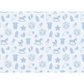 Spellbinders und Rayher Motivos de bebé motivo de cartón, 213x310 mm, 190 g / m2, azul bebé