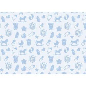 Spellbinders und Rayher Motivkarton Babymotive, 213x310mm, 190 g/m2, babyblau