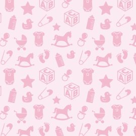 Spellbinders und Rayher Motivos de bebé motivo de cartón, 213x310 mm, 190 g / m2, rosa bebé