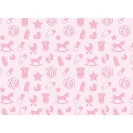 Spellbinders und Rayher Motif cardboard baby motives, 213x310mm, 190 g / m2, baby pink