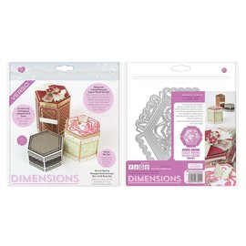 Tonic Tonic, Snij en embossing mallen: Hexagon Kaleidoscope Box