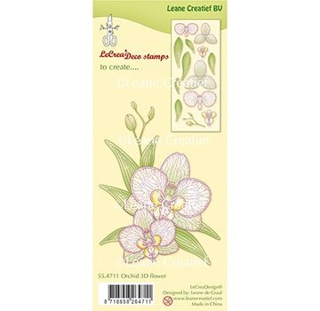Leane Creatief - Lea'bilities und By Lene Leane Creatief, Transparent Stamp, 3D Orchid