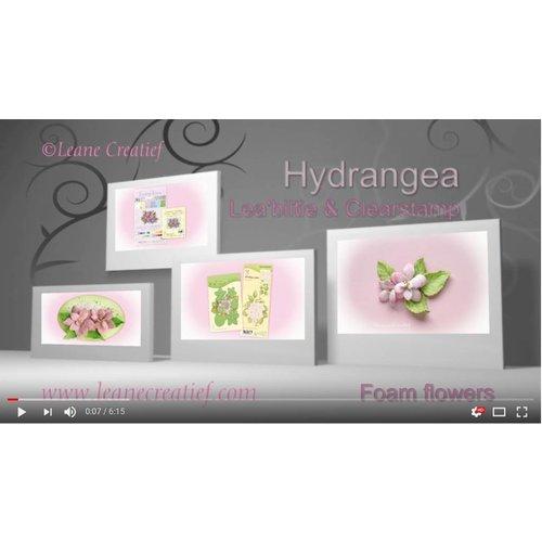 Couper et gaufrer pochoir: Hydrangea par Lea'bilities Leane Creatief