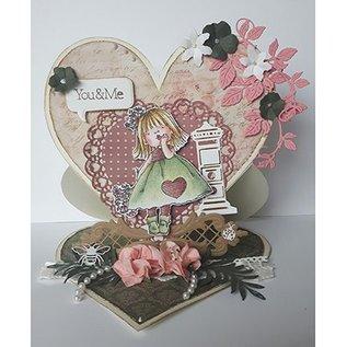 Dutch DooBaDoo Dutch Doobadoo, Plastik Schablone, Card Art Easel Card Heart