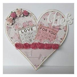 Dutch DooBaDoo Doobadoo olandese, stencil di plastica, card cuore card di card