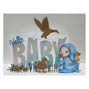 Dutch DooBaDoo Dutch Doobadoo, Plastik Schablone, Card Art Text 'Baby'
