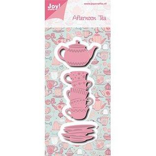 Joy!Crafts / Jeanine´s Art, Hobby Solutions Dies /  Joy!Crafts, cutting and embossing template: Afternoon tea Tassen + Teekanne