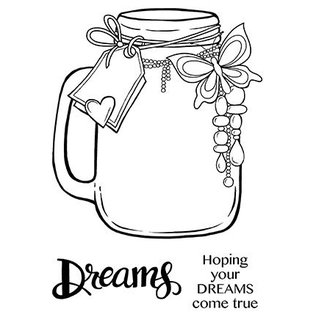 CREATIVE EXPRESSIONS und COUTURE CREATIONS CREATIEVE UITDRUKKINGEN, stempel: Jar of Dreams