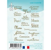 Leane Creatief - Lea'bilities und By Lene Leane Creatief, transparent stamp, texts in french