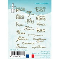 Leane Creatief, transparent stamp, texts in french