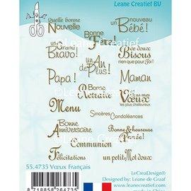 Leane Creatief - Lea'bilities und By Lene Leane Creatief, francobollo trasparente, testi in francese