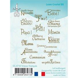Leane Creatief - Lea'bilities und By Lene Leane Creatief, sello transparente, textos en francés