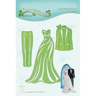 Leane Creatief - Lea'bilities und By Lene Snij en embossing Sjablonen: Dress & Suit