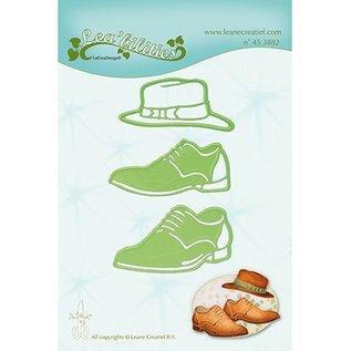 Leane Creatief - Lea'bilities und By Lene Snij en embossing Sjablonen: Men shoes & hat