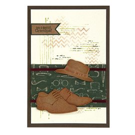 Leane Creatief - Lea'bilities und By Lene plantillas de corte y estampado: zapatos y sombrero de hombre