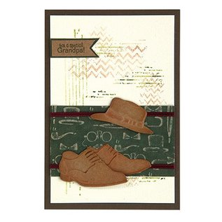 Leane Creatief - Lea'bilities und By Lene cutting and embossing templates: Men shoes & hat