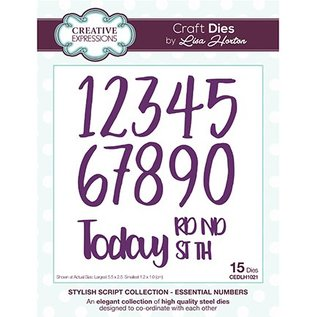 CREATIVE EXPRESSIONS und COUTURE CREATIONS CREATIVE EXPRESSIONS, cutting and embossing template: The Stylish Script Collection