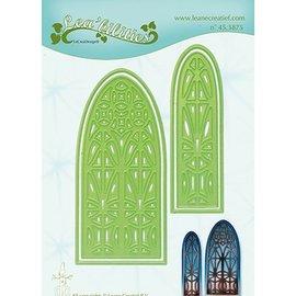 Leane Creatief - Lea'bilities und By Lene modèles de coupe et de gaufrage: Fenêtre de l'église
