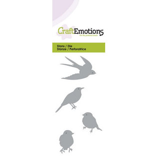 Craftemotions cutting and embossing: Birds, Card 5x10cm